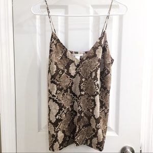 H&M Snakeskin Print Camisole Style Blouse Size 6